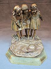Dimitri CHIPARUS (1886-1947) children bronze statue