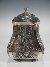Antique German 800 silver lidded pot
