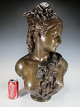 Albert de CARRIER-BELLEUSE (1824-1887) bronze bust