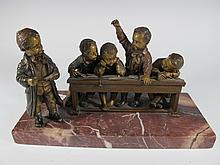Franz BERGMAN (1838-1894) rare Vienna bronze children statue