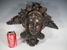 Antique French carved wood ornament