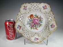 German Dresden porcelain deep plate