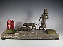 Franz BERGMAN (1838-1894) Vienna bronze inkwell