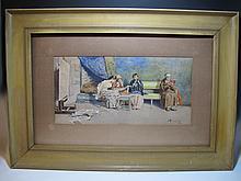 Francesco RINALDI (1786-?) Italian, watercolor painting