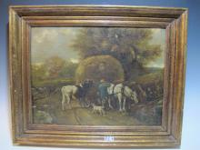 Probably Georg RIECKE, Dutch oil on canvas painting