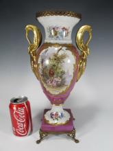 Antique Limoges porcelain urn