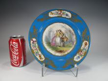 Antique French Sevres porcelain plate