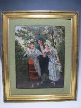 Antique probably Spanish painting, Vera RODRIGUEZ