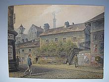 Johann Wilhelm FREY (1830-1909) Austrian artist watercolor