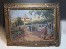 19th C Spanish oil on canvas, signed SOLER