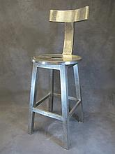 Old iron or steel bar chair