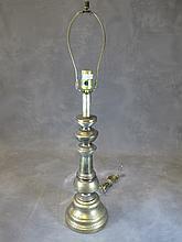 Old metal table lamp