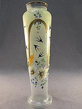 European Art Glass flower vase