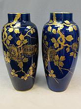 Pair of French St Radegonde porcelain vases