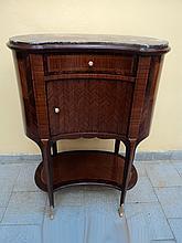 French Louis XVI kidney shape side table
