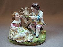 Probably Old Paris porcelain group