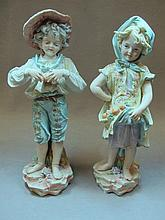 German pair of bisque statues
