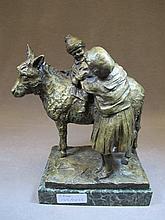 European bronze statue, signed