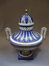 Antique French Sevres porcelain urn