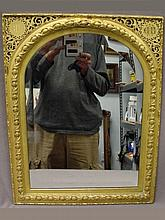 Old French gilded bronze wall mirror