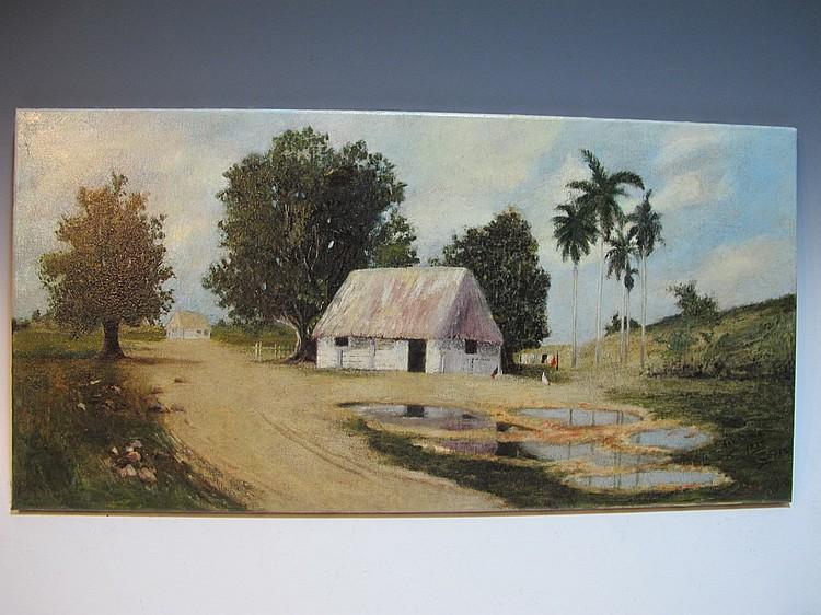 A. MACHIN, copy of Juan GIL GARCIA painting
