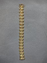 Bracelet, 14 k yellow gold, 32 grams