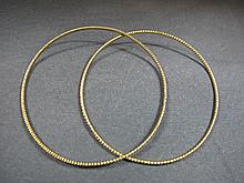 2 Bracelets, 14 k yellow gold, 6 grams