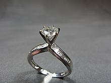 Ring, 14 k gold, 0.725 ct diamond, I color - SI2, size 7