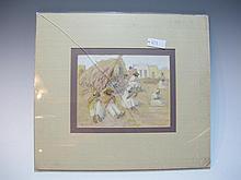 Edwin Willard DEMING (1860-1942) American artist gouache & pencil