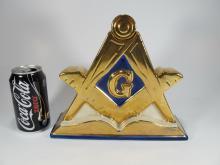 Blue Lodge Square and Compasses Masonic Decanter