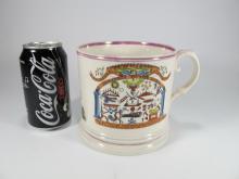 Antique English large Masonic mug