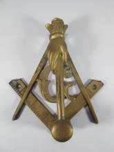 Antique Masonic bronze door knocker