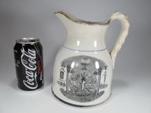 19th C. English Masonic jug, John Hay Greenock