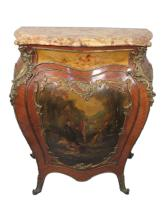 Antique French Vernis Martin style cabinet