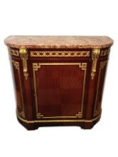 Antique French ormolu & marble cabinet