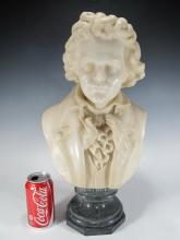 Signed A. CLERICI, Italian, Beethoven marble bust
