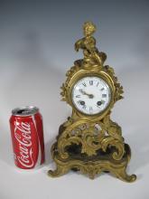 Marked Tiffany & Co and JED bronze clock
