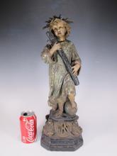 Antique European Religious plaster sculpture