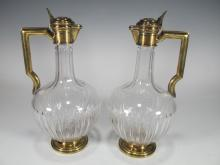 Gustave KELLER(1881-1922) pair of French pitchers