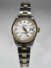 Rolex Ladies Oyster Perpetual Date steel & 18 k gold Watch