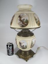 Mt. Washington brass & glass lamp