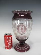 Probably Czechoslovakian glass vase