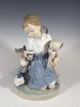 LLADRO Porcelain Figurine CHILD'S PLAY # 1280