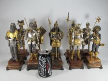 Italian gilt bronze set of 10 chess statues