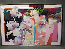 Large signed serigraph, dated 1985