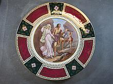 Old Vienna porcelain plate, signed