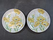Pair of Japanese Noritake porcelain plates