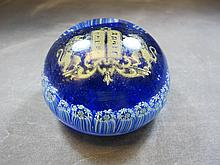 Jewish glass paperweight