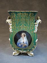 Old European porcelain vase