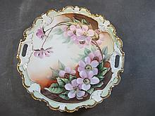 Old French porcelain plate, signed